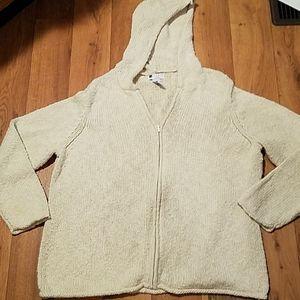 Carole Little crochet zip-up sweater size 3x
